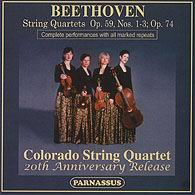 PACD 96034/35 Complete Contents. Colorado String Quartet: Beethoven String Quartets Opp 59 and 74