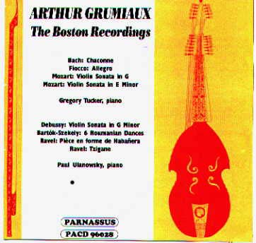 pacd 96028 arthur grumiaux - the boston recordings