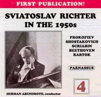 Sviatoslav Richter Live in the 1950s: Volume 1