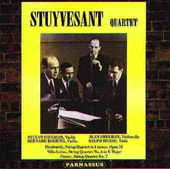 PACD96026 - Stuyvesant Quartet plays 20th Century Quartets